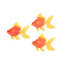 3pcs Swimming Gold Fish Toy Aquarium Ornament  Kid Best Gift Nh