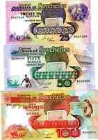 Seychelles, SET, 25;50;100 rupees (1989) P-33;34;35 UNC