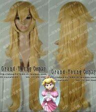 Super Mario Brothers Princess Mary Peach Princess Peach Long cosplay Wig 80cm @1