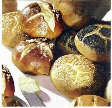 s1599 - Servietten - Packung - 20 Stück - Breakfast - Frühstück - Brötchen