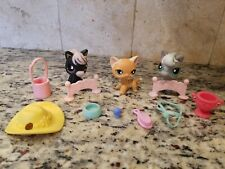 LITTLEST PET SHOP RACEABOUT RANCH INCOMPLETE #525 CAT #523 HORSE #524 HORSE