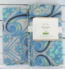 Pottery Barn New Alina King Pillow Sham Pair 2 Organic Cotton Blue