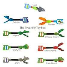 Kids Robot Grabber (You Pick) Shark Dinosaur Snake Dolphin Fine Motor Hand Toy