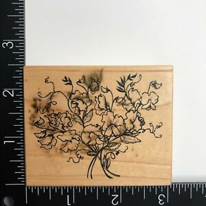 PSX Designs Bouquet Flowers Vines G1751 Wood Mounted Rubber Stamp