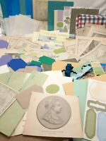 Craft lot paper Ephemera for junk journaling collages scrapbooking map colors