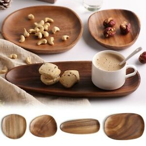 Lovesickness Wood Oval Solid Plates Fruit Dishes Tea Tray Plate Dinner Tableware
