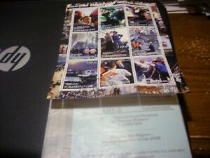 Turkmenistan Postage Stamps American Rescue Workers/Pres. Bush Sheet of 9