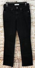 Levis black jeans womens 2 straight leg 505 stretch denim F5