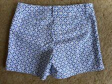 The Limited Shorts sz 6 print Blue White Short Cotton Blend Summer Stretch