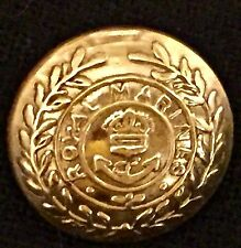 British WWI, WWII Royal Marines King's Crown 24mm Brass Button, new reproduction