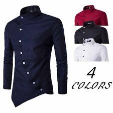 Fashion Mens Luxury Long Sleeve Casual Slim Fit Stylish Dress Shirts Button Tops