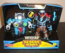 NEW 2004n FISHER PRICE RESCUE HEROES ROBOTZ POLICE JAKE JUSTICE Action Figure