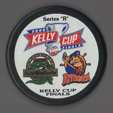 "Peoria Rivermen hockey puck ""R"" 2000 Kelly Cup Finals Echl Louisiana Ice Gators"