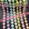 H213 1 yard Vintage Flower Lace Trim Edge Ribbon Wedding Applique Sewing Crafts