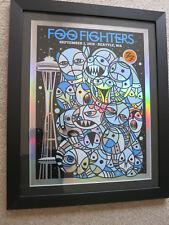 Foo Fighters poster Pop Up #20/30 Framed! Seattle Nirvana reunion Don Pendleton