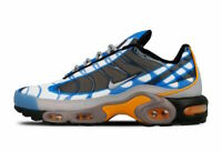 Nike Men's Air Max Plus Photo Blue Grey Orange Black 815994-400