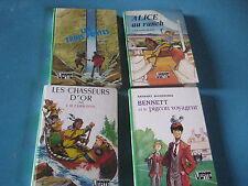 Lot de 4 livres Bibliothèque Verte Alice au ranch, Les chasseurs d'or,