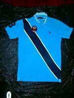 US Polo Assn Team USPA Mens Big RED Pony LOGO Polo Shirt Size M SINCE EST 1890