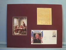 Thomas Jefferson writes The Declaration of  Independence & his First day Cover