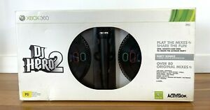 Xbox 360 DJ Hero 2 - BOXED with 2 Turntables + Microphone Bundle