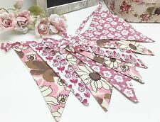 Retro / Vintage Style Rosa Floral Bunting in Pinks and Cream