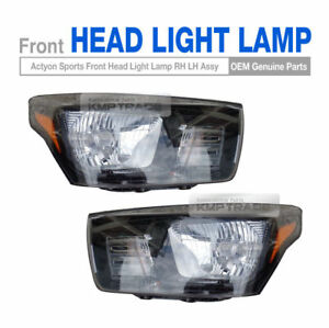 OEM Front Head Light Lamp Assembly LH RH for SSANGYONG 2014 - 2017 Actyon Sports