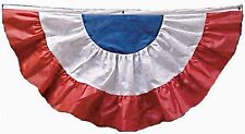 2' X 4' Red, White & Blue Non-Woven Fabric Fan Drapes With Grommet Holes
