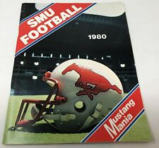 1980 Southern Southern Methodist University SMU Mustangs Football Media Guide