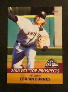 2018 Choice, PCL T/P, Colorado Sky Sox - CORBIN BURNES