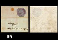 Bermuda William B.Perot 1854,Cover,1p Red  on Bluish Wove Paper,$125000,Replica