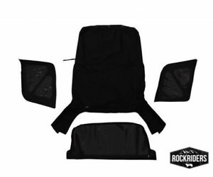 98835 Rampage 1995-1998 Geo Tracker Soft Top and Zip Out Tinted Windows Black