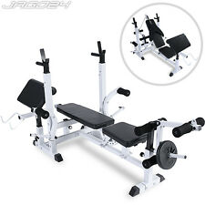 Multigym Power Station Bench Press Incline Arm Leg Curl Weights Home Exercise
