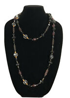 Statement Necklace Long Vintage Beaded Faceted Flapper Style Fun Costume Gift