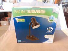 "Globe Enersaver Black Desk Lamp with Bulb #455299 14"" Tall (M)"