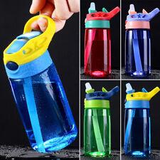 Children Plastic Drinking Cup 480ML Leak Proof Sports Water Bottle w/Straws Kids