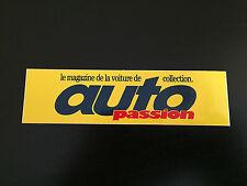 AUTOCOLLANT AUTO PASSION  MAGAZINE VOITURE COLLECTION GOODIES PUB