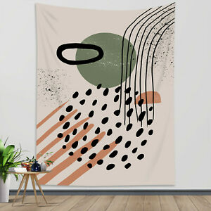 Geometric Minimalist Tapestry Mid Century Wall Hanging For Living Room Bedroom