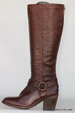 Tall Frye Womens Harness brwn leather boots 9 B 3477953 Lt Wear In Excell Cond!