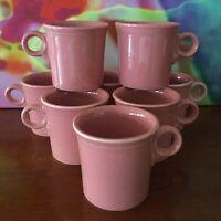 Fiesta // Flamingo Pink // Set Of Eight Coffee Cups ~10 oz.