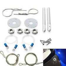 "Muscle 3/16"" Car Auto Hair Pin Style Sport Hood Latch Pin Bonnet Engine Lock Set"