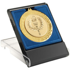 Black Plastic Medal Box With Clear Front (For Display) Fits 50mm, 60mm & 70mm