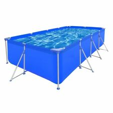 4.0x2.1m Outdoor Rectangular Steel Frame Above Ground Swimming Water Play Pool