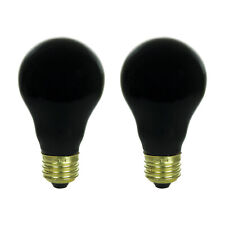 2 BLACK LIGHT BULBS LIGHT PARTY INCANDESCENT 120V 75W LIGHTING EFFECTS FREE SHIP