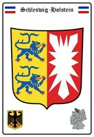 Schleswig Holstein Allemagne Armoiries Plaque Plaque Étain Signer 20 X 30 CM