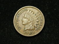 SUMMER SALE!! XF 1902 INDIAN HEAD CENT PENNY w/ DIAMONDS & FULL LIBERTY #85s