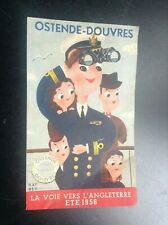 Rare ancienne brochure Ostende Douvres 1956 horaires