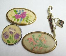 Lot of 4 Vintage Needlepoint Pins
