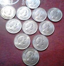 India 50 paise1985 H Death-of-Indira-Gandhi 10 coins lot in unc / b unc