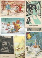 Happy New Year Vintage Theme Postcard Lot of 20  01.15