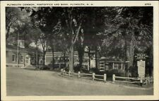 Plymouth NH Common Post Office & Bank Postcard